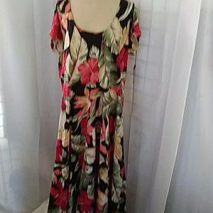 Chaps Floral print summer dress